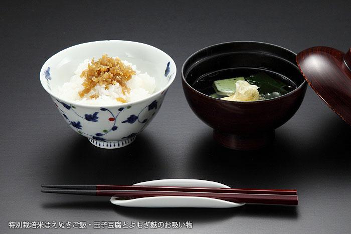 特別栽培米庄内はえぬきご飯・玉子豆腐とよもぎ麩のお吸い物