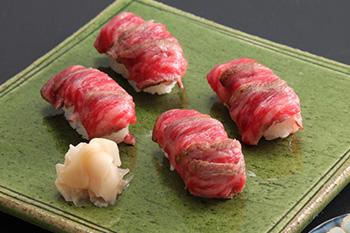 山形牛サーロイン握り寿司